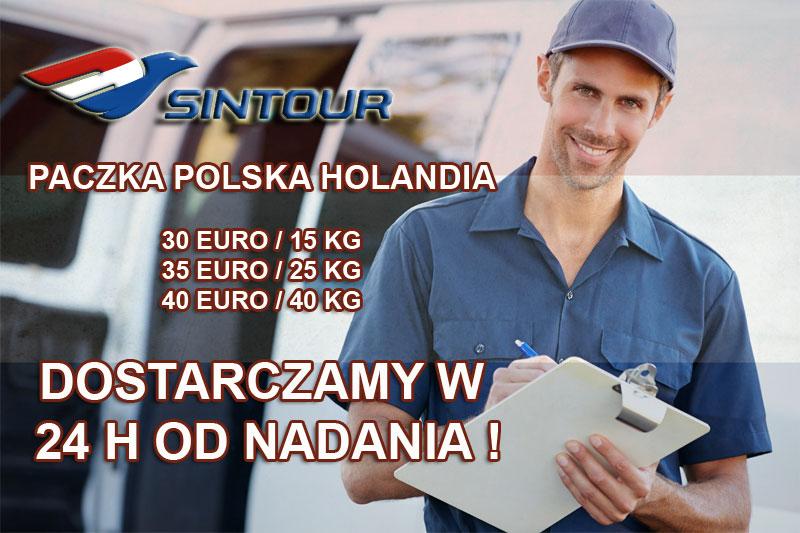 paczki polska holandia sintour radom